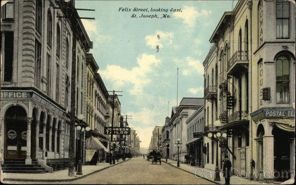Felix Street, looking East St. Joseph Missouri