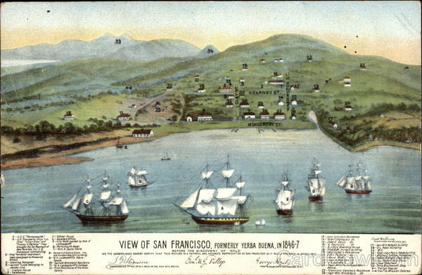 View of San Francisco in 1846-7 California