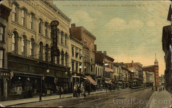Lower State Street in the SHopping District Schenectady New York