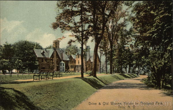 Drive & Old Warren House in Prospect Park Troy New York