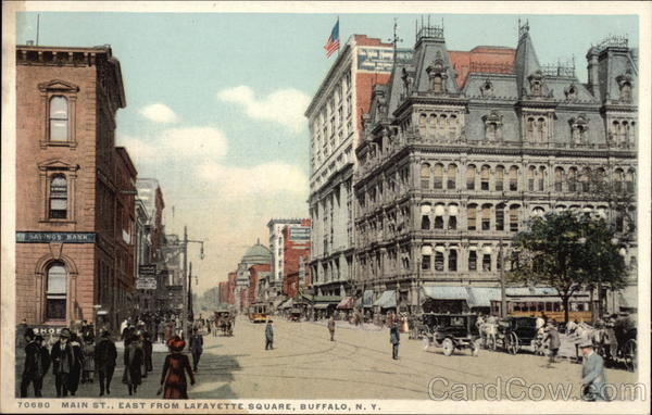 Main St., East from Lafayette Square Buffalo New York
