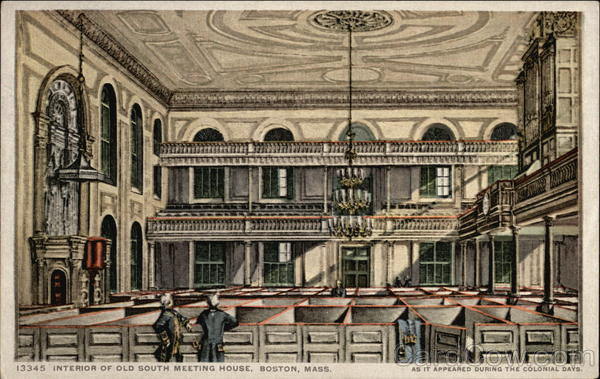 Interior of Old South Meeting House Boston Massachusetts