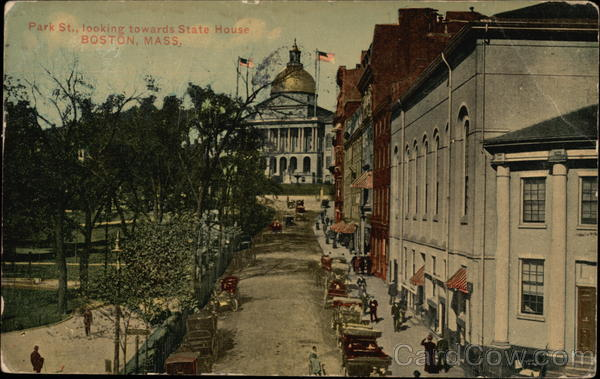 Park St. Looking towards State House Boston Massachusetts