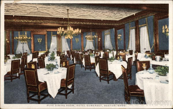 Blue Dining Room, Hotel Somerset Boston Massachusetts