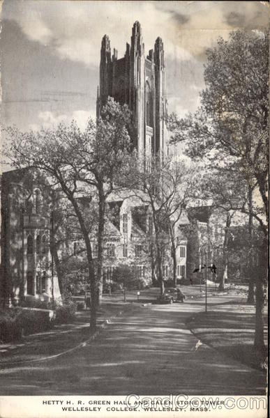 Hetty H.R. Green Hall and Galen Stone Tower, Wellesley College Massachusetts