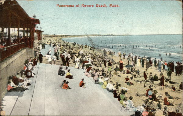 Panorama of beach Revere Beach Massachusetts