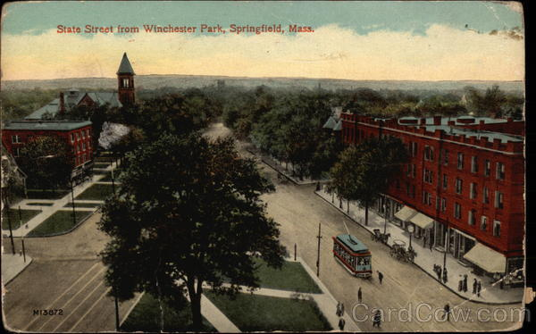 State Street from Winchester Park Springfield Massachusetts