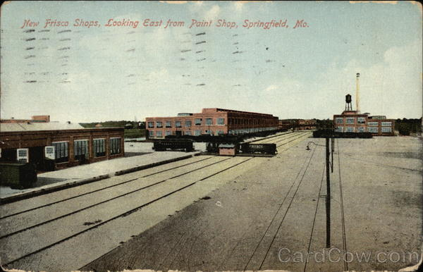 New Frisco Shops, Looking East from Paint Shop Springfield Missouri