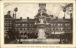 The Fountain and Main Building, Michigan Soldiers' Home