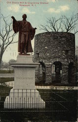 Old Stone Mill & Channing Statue