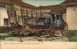 Prairie Schooner and Old Stage Coach