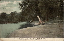 Sand Bar on the Blue River Postcard