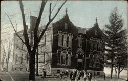 West School Building Postcard