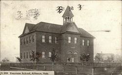 View of Emerson School Postcard