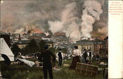 Refugees Watching the Burning City, April 18, 1906