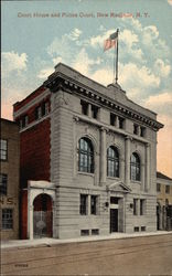 CourthHouse and Police Court Postcard