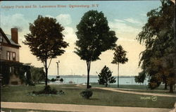 Library Park and St. Lawrence River