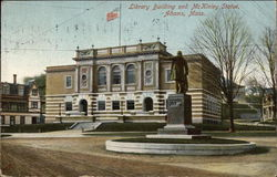 Library Building and McKinley Statue