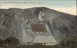 Tablet, Massachusetts Bays Colony Postcard