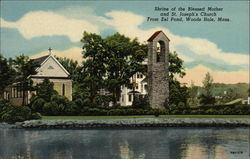 Shrine of the Blessed Mother and St. Joseph's Church From Eel Pond
