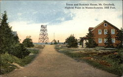 Tower and Summit House, Highest Point in Massachusetts, Mt. Greylock Postcard
