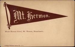 Flag, Mount Hermon School Postcard