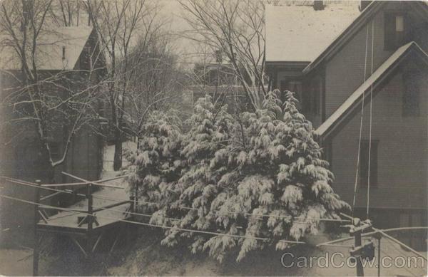 Winter Scene Bellows Falls Vermont