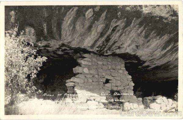 Ruins Of Ancient Indian Cliff Dwellings Flagstaff Arizona