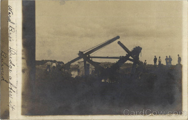 Ward Bros. Dredge After it Burned
