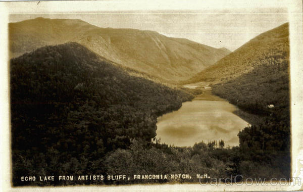 Echo Lake From Artists Bluff Franconia Notch New Hampshire
