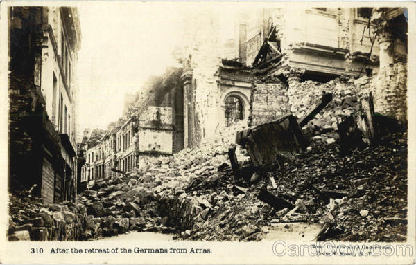 After the retreat of the Germans from Arras Disasters