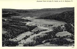 Airplane View Of Lake Ft. Smith Postcard