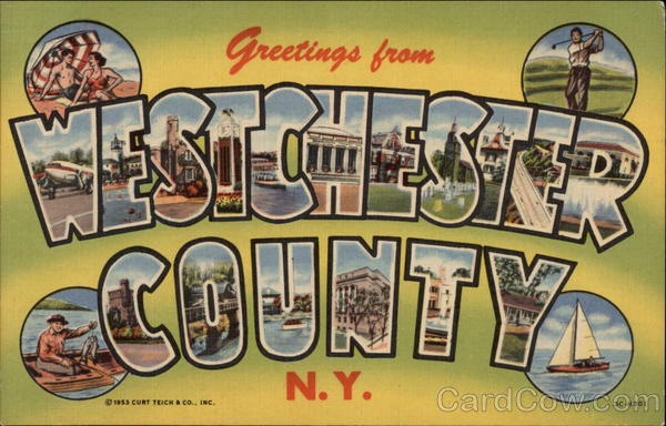 Greetings From Westchester County, N.Y New York Large Letter