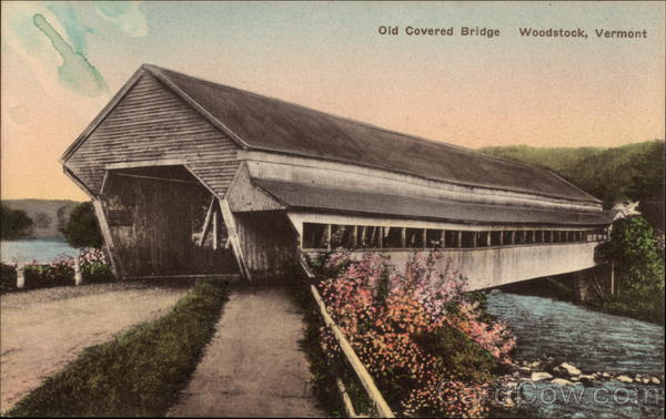 Old Covered Bridge Woodstock Vermont