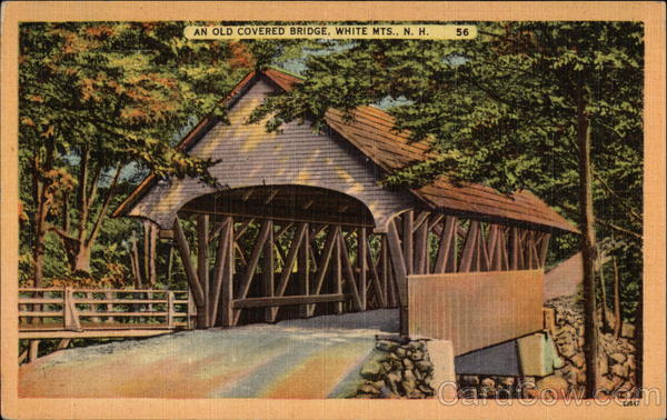 An Old Covered Bridge White Mountains New Hampshire