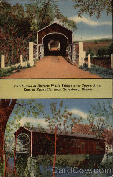 Wolfe Bridge Over Spoon River Galesburg Illinois