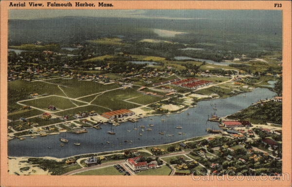 Aerial View Falmouth Harbor Massachusetts