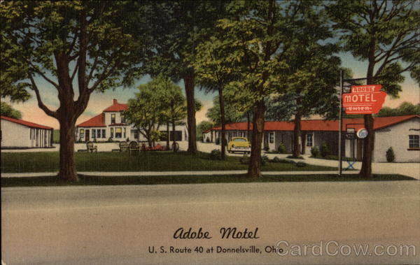 Adobe Motel, U.S. Route 40 at Donnelsville, OH Ohio