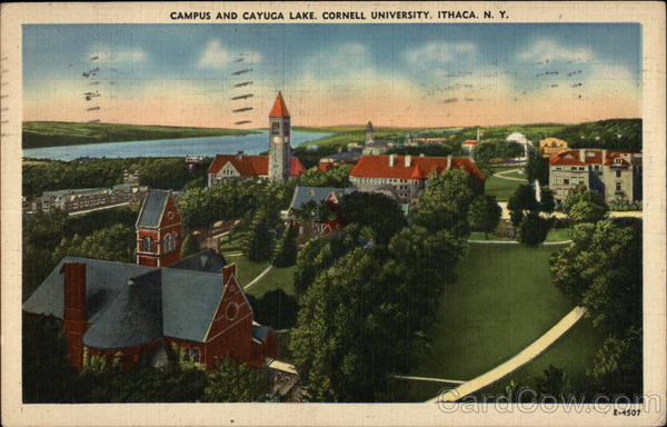 Cornell University - Campus and Cayuga Lake Ithaca New York