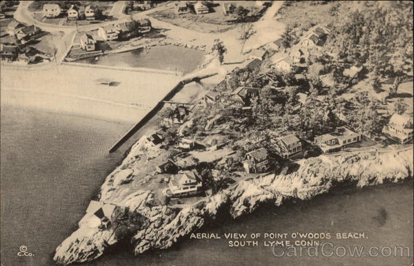 Aerial View of Point O'Woods Beach South Lyme Connecticut