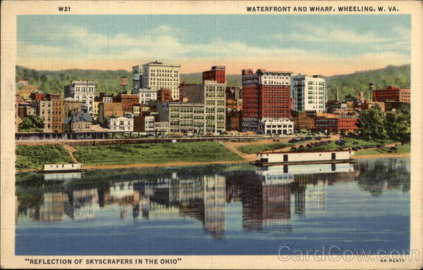 Waterfront and Wharf Wheeling West Virginia