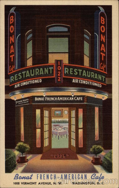 Bonat's French-American Cafe Washington District of Columbia