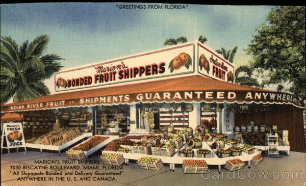 Marion's Fruit Shippers Miami Florida