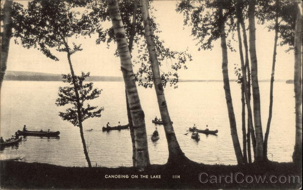 Canoeing on the Lake Canoes & Rowboats