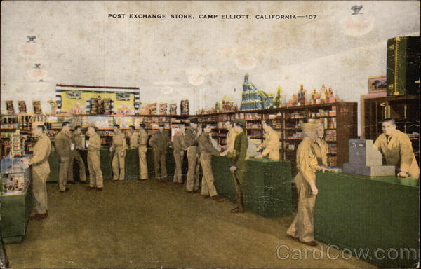 Post Exchange Store Camp Elliott California