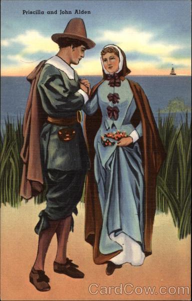 priscilla and john alden pilgrims