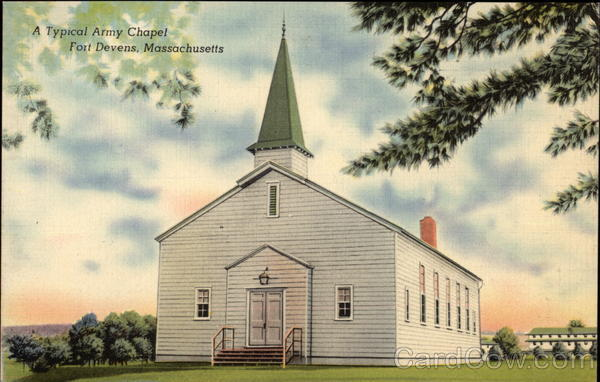 Typical Army Chapel Fort Devens Massachusetts