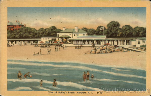 View of Bailey's Beach Newport Rhode Island