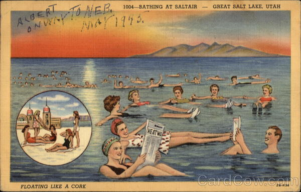 Bathing at Saltair Great Salt Lake Utah