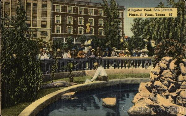 Alligator Pool San Jacinto Plaza El Paso Tx